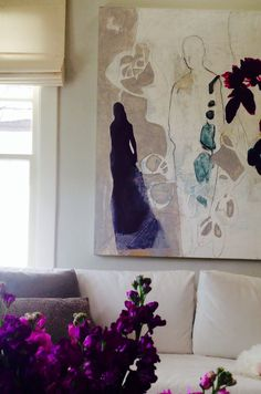 Melissa Herrington abstract. I absolutely love the new splash of color in my living room!! Thank you, Melissa