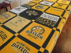 Baylor Bears quilt  I designed - Sister-in-law did awesome overall quilting