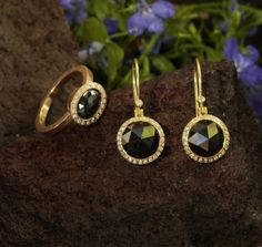 Black Diamonds in Rose Gold from Todd Reed at Earthworks of Los Altos