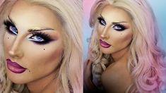 DRAG QUEEN MAKE UP - Blonde Venus Makeup Tips From Drag Queens, Drag Queen Makeup, Drag Makeup, Beauty Makeup, Makeup Inspo, Makeup Tutorials Youtube, Cosplay, Mermaid Makeup, Makeup Transformation