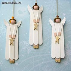Angels with Popsicle sticks.. seems easy.