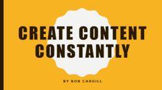 Create Content Const