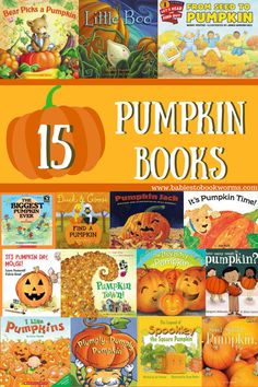 Celebrate the fall season with these board books and picture books about pumpkins! Autumn Activities For Kids, Thanksgiving Activities, Preschool Activities, Preschool Books, Thanksgiving Ideas, Halloween Activities, Book Activities, Toddler Books, Childrens Books