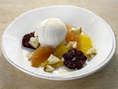Fresh Citrus with Gelato and Almond Cookies recipe from Giada De Laurentiis via Food Network