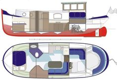 The Luxe-motor 34 provides a straightforward introduction to 'steel kit' boat building. the plating sizes have been kept small for easier handling and. Yacht Design, Boat Design, Dutch Barge, Trawler Yacht, Yatch Boat, Motor Cruiser, Teardrop Caravan, Small Yachts, Water House
