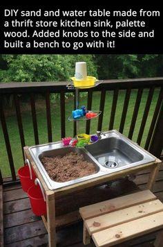 Sink sand box