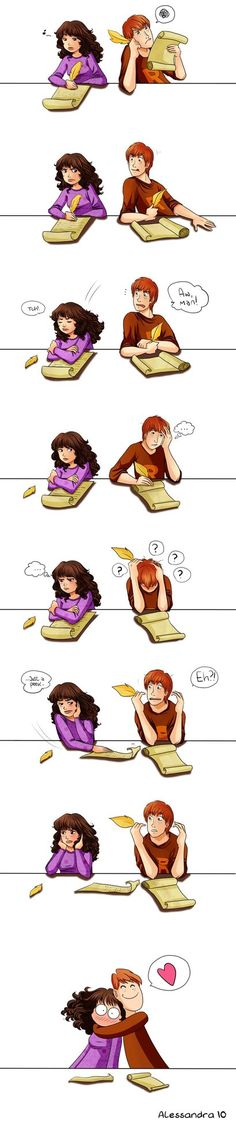 I think this is basically Ron everytime he had to write an essay.