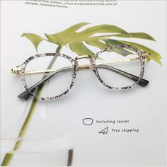 9ce5a2b7a44 Zenni Round Prescription Eyeglasses Pattern Tortoiseshell TR 2018639 in  2019