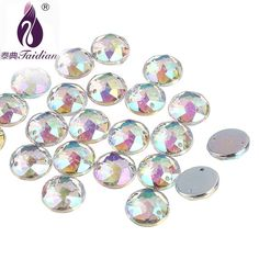 Free Shipping 200pcs Clear 10mm Octangle Double Holes Pointed Back Acrylic Diamond Apparel Sewing Buttons Crafts Diy Rhinestone Reasonable Price Apparel Sewing & Fabric