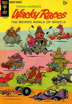 Hanna-Barbera - Wacky Races logo - comix covers