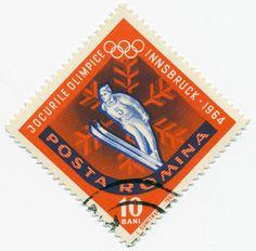Romanian Stamp - Innsbruck Olympics 1964