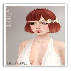 Laviere Elizabeth Hairstyle - Demo available - 8 haircolor packs available - 188L each - 888L fatpack