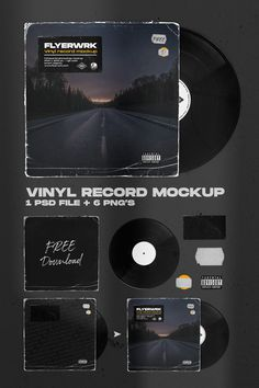 Great for creating album covers and other forms o. Graphic Design Posters, Graphic Design Typography, Graphic Design Inspiration, Photoshop Design, Mockup Photoshop, Photoshop Actions, Album Cover Design, Transparent Design, Promotional Design