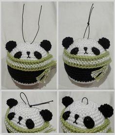 Вяжем амигуруми: Вязаные украшения на елку: медведь, панда, коала