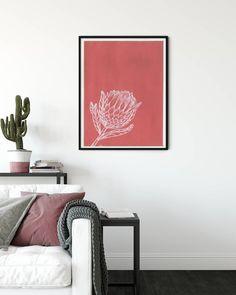Drawing Art, Line Drawing, Protea Art, Modern Art, Modern Design, Modern Interior, Interior Design, Gouache Painting, Botanical Art