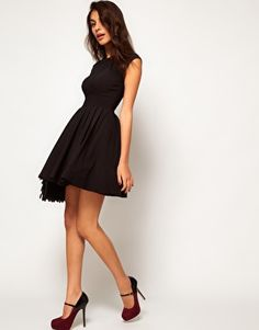 Enlarge ASOS 50's Seamed Full Skater Dress, $88