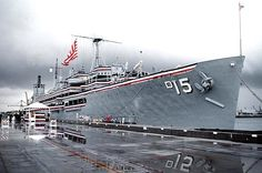 The second ship that I served on, this one in the early 1980s, the USS Prairie (AD-15), a destroyer tender.  At the time, it was the oldest ship in the Navy at 43 years old.  I was serving on this ship when I met my first wife and we got married.
