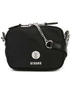 studded strap textile shoulder bag - Black Prada wpdBE5