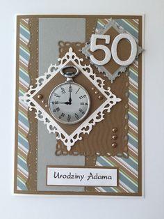 Handmade Masculine Happy 50 th Birthday Card                                                                                                                                                                                 More