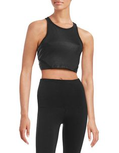 Calvin Klein Performance Quick-Dry Mesh Insert Bra in black