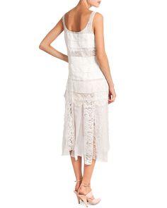 Sleeveless Lace Dress W/ Car Wash Skirt