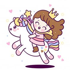 Little Unicorn, Cute Unicorn, Unicorn Party, Princess Cartoon, Cute Princess, Cute Cartoon Drawings, Cute Kawaii Drawings, Unicorn Wallpaper Cute, Unicorn Backgrounds