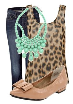 Leopard and mint, not too crazy about the shoes but love the rest!