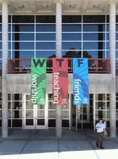 it's all fun and games until someone hangs the banners in the wrong order.
