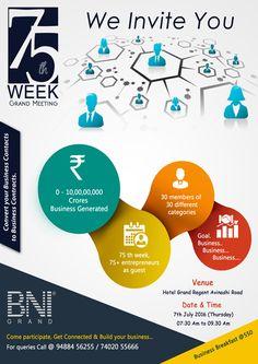 75th Week Grand Meeting of BNI => http://www.webdesign.123coimbatore.com/brochures.php