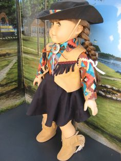 18 inch Doll Clothes American Girl Cowgirl by mybonbonboutique, $25.00