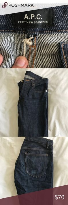 APC Petit New Standard Like New Worn less than 10 times.  Raw denim  These fit tight, and stretch out as you wear them. A.P.C. Jeans Skinny