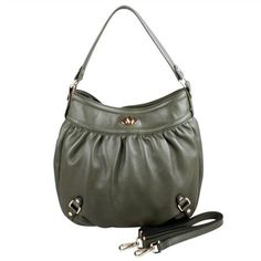 Karla Hanson - Army Green Hobo Bag - $199.00/each This Ladies Fashion Crossbody Bag is made from cow leather with a golden finish, approximately 32 x 6 x 33-21 cm. Presented by www.ecomcreator.com Leather Crossbody Bag, Leather Bag, Ladies Fashion, Womens Fashion, Green And Purple, Hobo Bag, Cow Leather, Army Green, Bag Making
