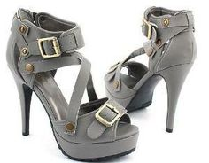 #Strappy Pump Heels