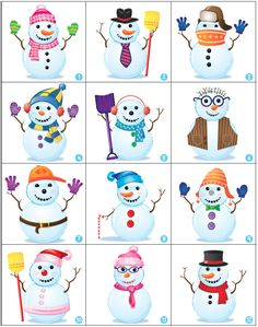 Handy Handout Therapy Activity: Guess My Snowman Speech Activities, Therapy Activities, Preschool Activities, Winter Art, Winter Theme, Card Games For Kids, Art For Kids, Infant Classroom, Winter Activities