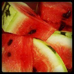 Homegrown watermelon #watermelon