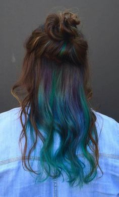 Shades of blue underlights. I absolutely love my hair! Done with Good Dye Young hair color by Hayley Williams