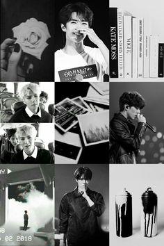 #sehun #blackandwhite #aesthetic #exo Exo Lockscreen, Chanyeol, Mood Boards, Caption, Aesthetic Wallpapers, Honey, Hero, Kpop, Boys