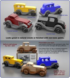 Antique Show Toy Car Roundup Wood Toy Plan Set