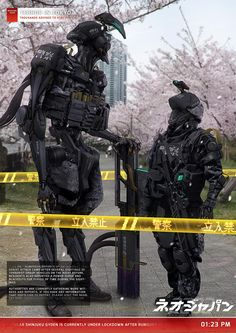 Art featuring all things futuristic. Whether it's retro or advanced technology, utopian cityscapes or ruined warscapes, if there's a Sci-Fi. Robot Concept Art, Armor Concept, Science Fiction, Neo Japan 2202, Really Cool Photos, Cyberpunk Rpg, Sci Fi Armor, Future Soldier, Futuristic Art