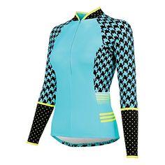 Shebeest 201617 Womens Bellissima Houndstripe Long Sleeve Cycling Jersey  PLUS SIZE 3511PHS Bellissima Houndstripe Island 3X e791ed12f