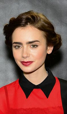 Lily Collins' Audrey Hepburn Beauty Look For The Mortal Instruments & City Of Bones | Grazia Beauty