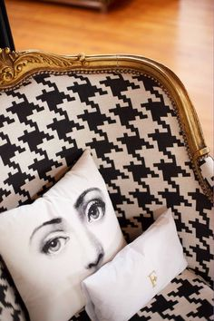 fornasetti pillow the style saloniste: Wilde Child: Ken Fulk's Magical Loft Ken Fulk, Shock And Awe, Timorous Beasties, Piero Fornasetti, Victorian Goth, Interior Decorating, Interior Design, Sofa Covers, Unique Home Decor