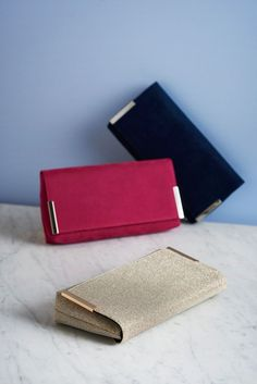 A little treat to save for later. Our elegant clutch bags come in a whole host of colours. It'll be hard to choose just one.
