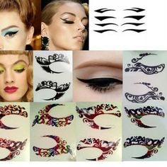 Makeup Temporary Eye Rock Eye Tattoos Eye Sticker