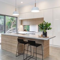 final selected design for cupboards Open Plan Kitchen Living Room, Kitchen Room Design, Modern Kitchen Design, Home Decor Kitchen, Home Kitchens, Kitchen Ideas, New Kitchen Interior, Contemporary Kitchen Interior, Cuisines Design