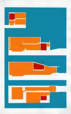 kranieri-thesis:        screen printed plan/section
