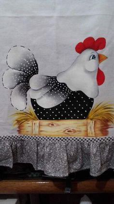 Rooster Painting, Tole Painting, Fabric Painting, Chicken Crafts, Chicken Art, Chicken Quilt, Chicken Painting, Decoupage Vintage, Country Paintings