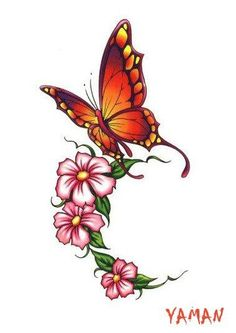 Butterfly and flower tattoos - Google Search