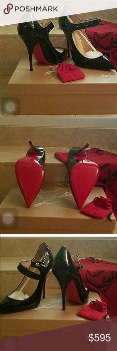 Christian Louboutin Neo Pensee 120 Pump Brand new in box with dustbags. Runs really small. Size 37 will fit a 5.5 or 6. Christian Louboutin Shoes Heels
