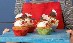 Lustige Clown-Cupcakes für Kinder Rezept | Dr. Oetker